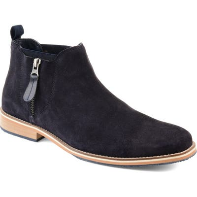 Thomas And Vine Smash Zip Chelsea Boot, Blue