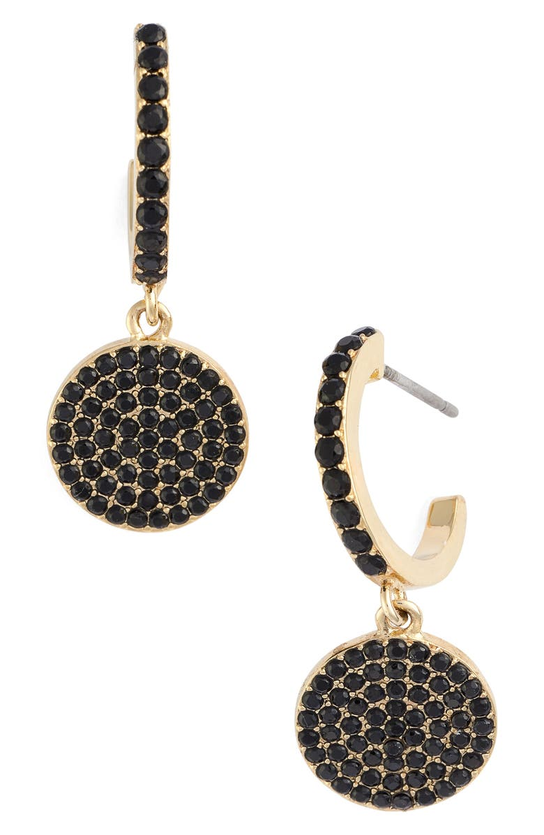 KATE SPADE NEW YORK shine on pavé drop earrings, Main, color, 008