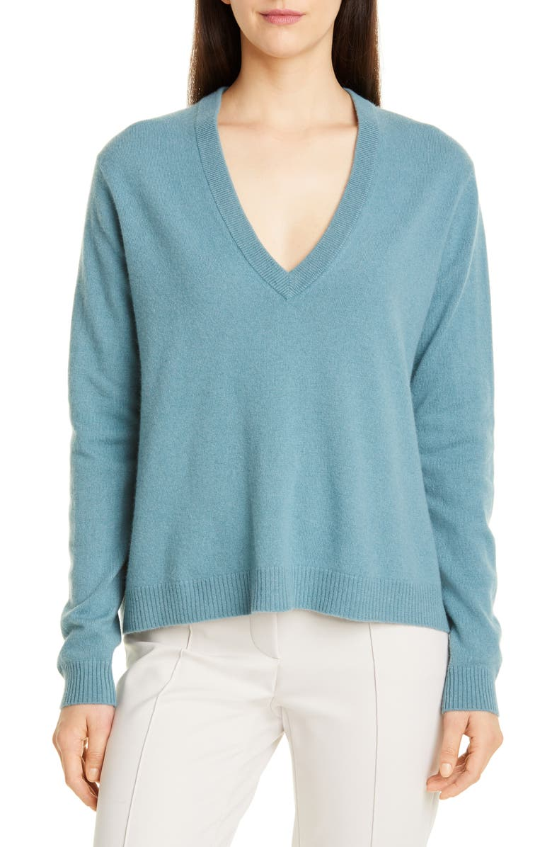 SEVENTY V-Neck Recycled Wool & Silk Sweater, Main, color, 460
