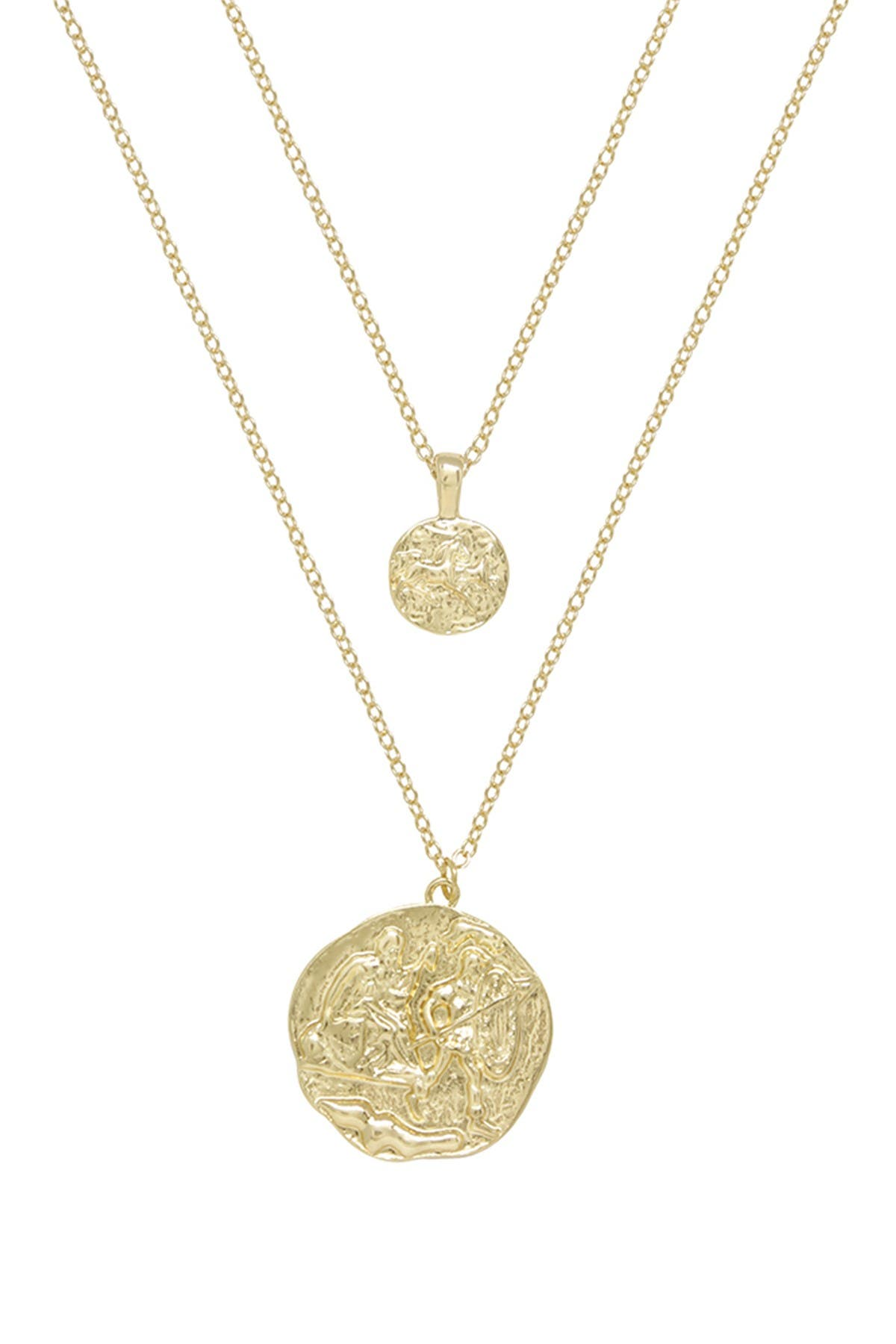 Image of Ettika Gold Tone Double Coin Necklace Set