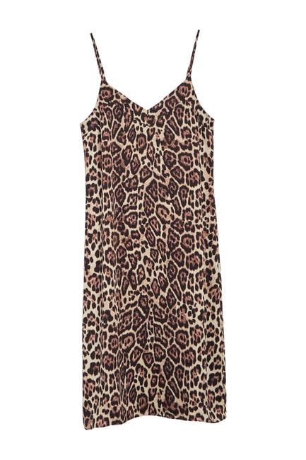 Image of Equipment Jules Leopard Slip Dress
