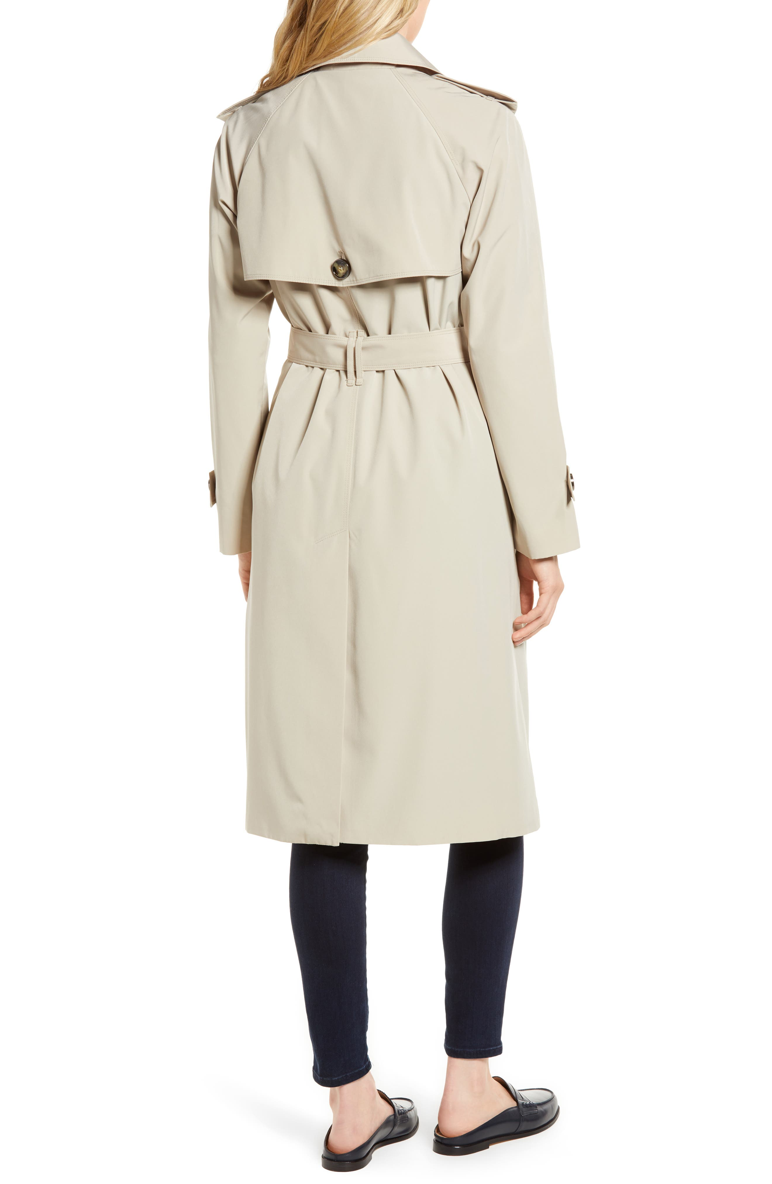 ,                             Long Double Breasted Trench Coat,                             Alternate thumbnail 9, color,                             274