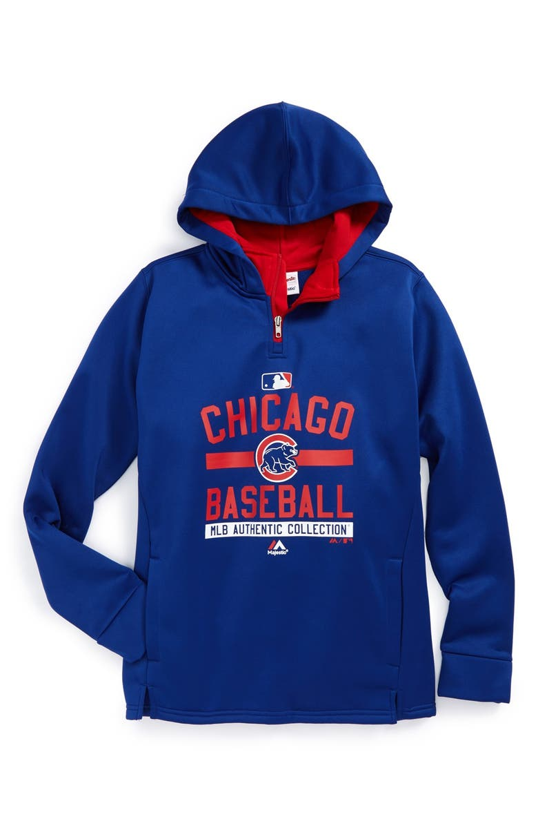 best sneakers a3c2f c5154 Majestic MLB 'Onfield Team Property - Chicago Cubs' Hoodie ...