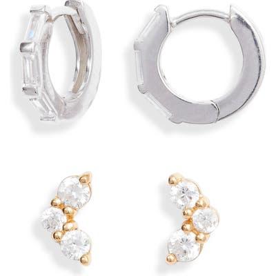 Argento Vivo 2-Pack Cubic Zirconia Stud Earrings