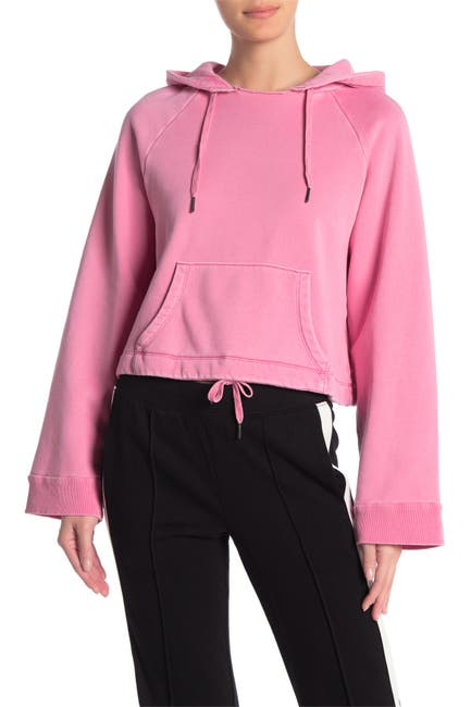 Image of PAM AND GELA Boxy Crop Pullover Hoodie