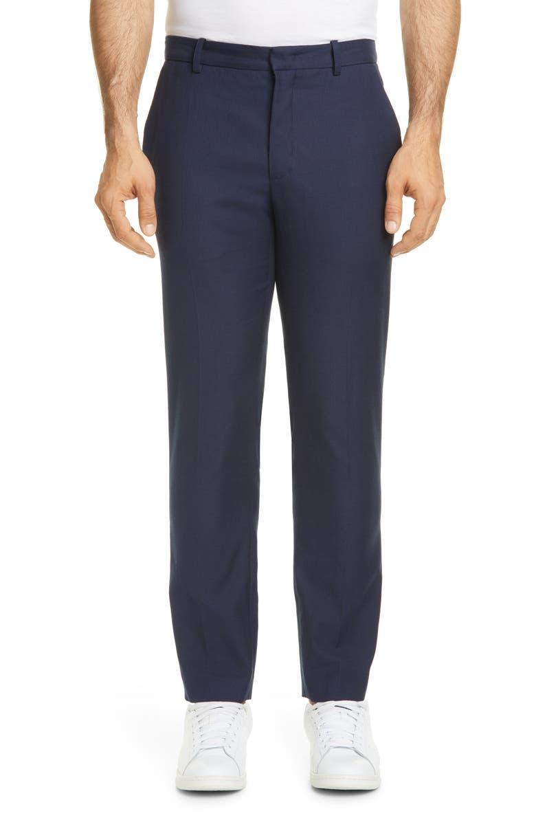 A.P.C. Formel Straight Leg Herringbone Chinos, Main, color, DARK NAVY
