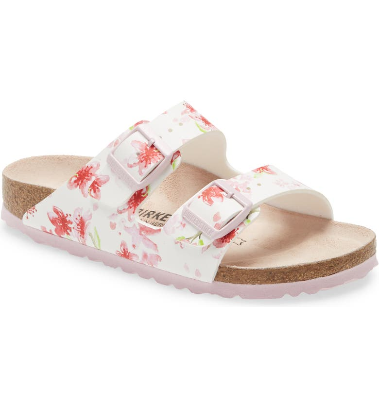 BIRKENSTOCK Arizona Birko-Flor Sandal, Main, color, BLOSSOM WHITE