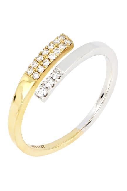 Image of Bony Levy Kiera Two-Tone 18K Gold Diamond Bypass Ring