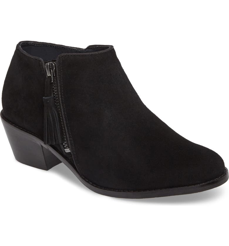VIONIC Serena Ankle Boot, Main, color, BLACK SUEDE