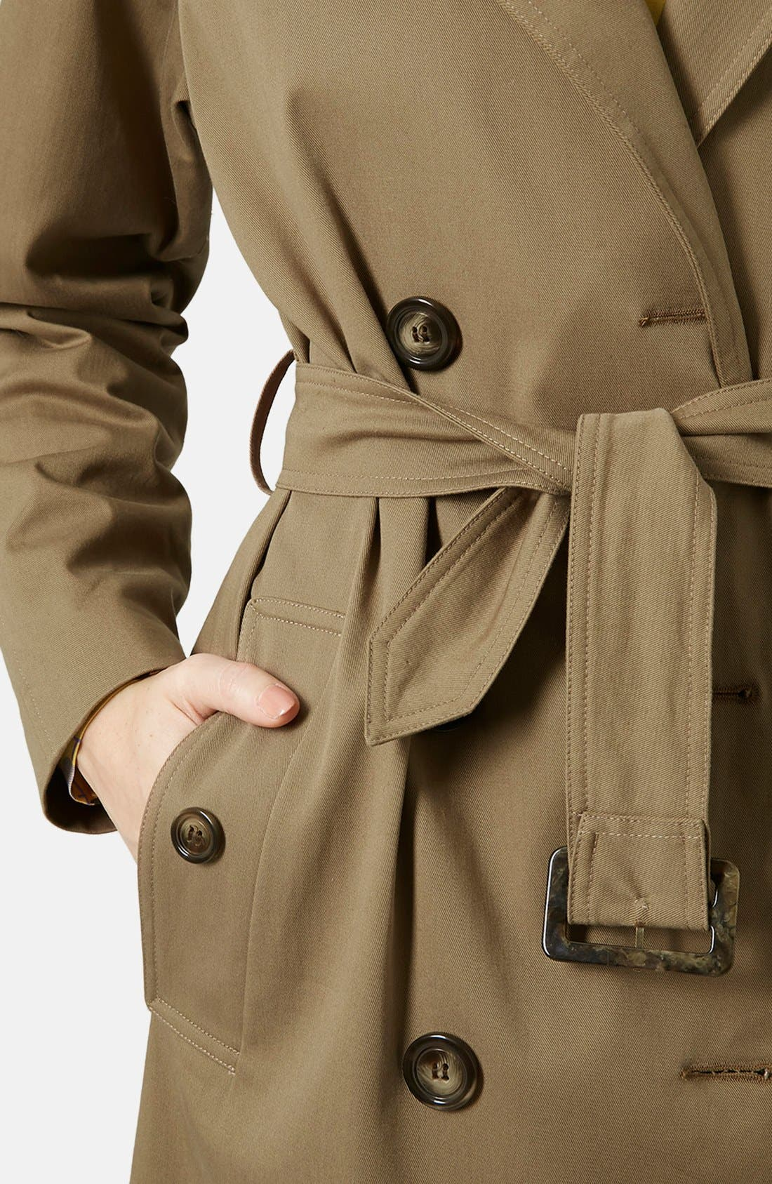 ,                             'Scout' Double Breasted Trench Coat,                             Alternate thumbnail 5, color,                             200