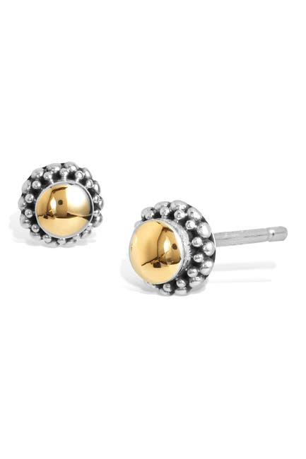 Image of Savvy Cie 18K Solid Gold & Sterling Silver Stud Earrings