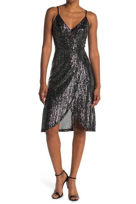 Image of cupcakes and cashmere Joelle Sequin Midi Dress