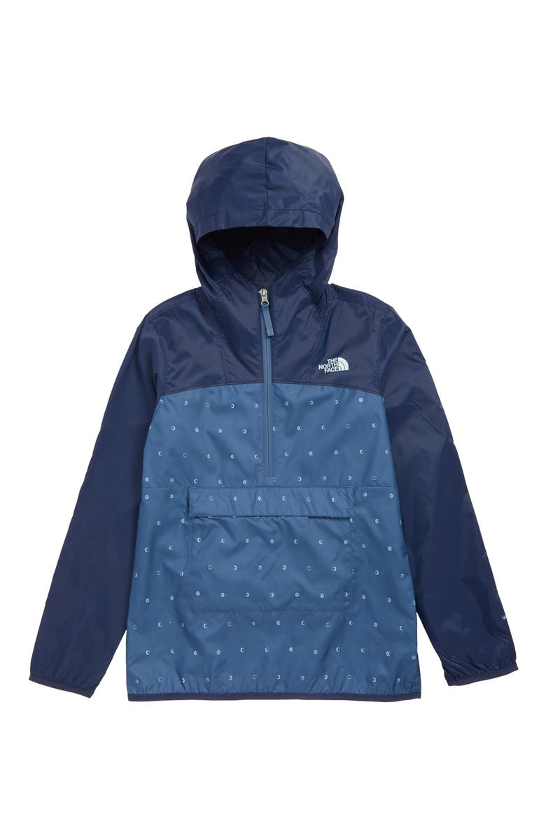 THE NORTH FACE Fanorak Water Repellent Windbreaker, Main, color, SHADY BLUE MOON PHASES PRINT