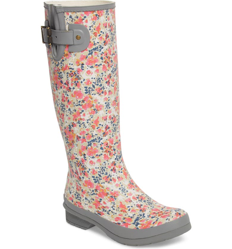 CHOOKA Julia Floral Waterproof Rain Boot, Main, color, 030