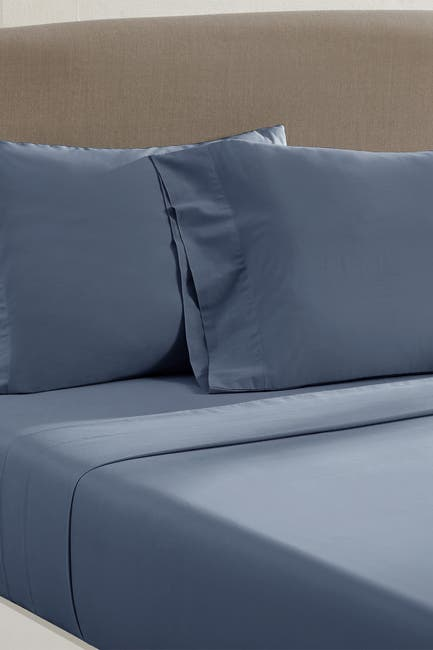 Image of Modern Threads California King Vintage Washed 4-Piece Sheet Set - Dark Blue