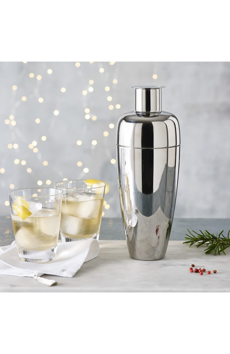 THE WHITE COMPANY Cocktail Shaker, Main, color, SILVER