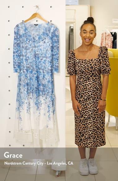 Watercolor Print Chiffon Handkerchief Hem Dress, sales video thumbnail