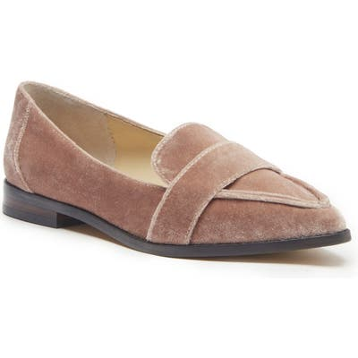 Sole Society Edie Pointy Toe Loafer- Grey