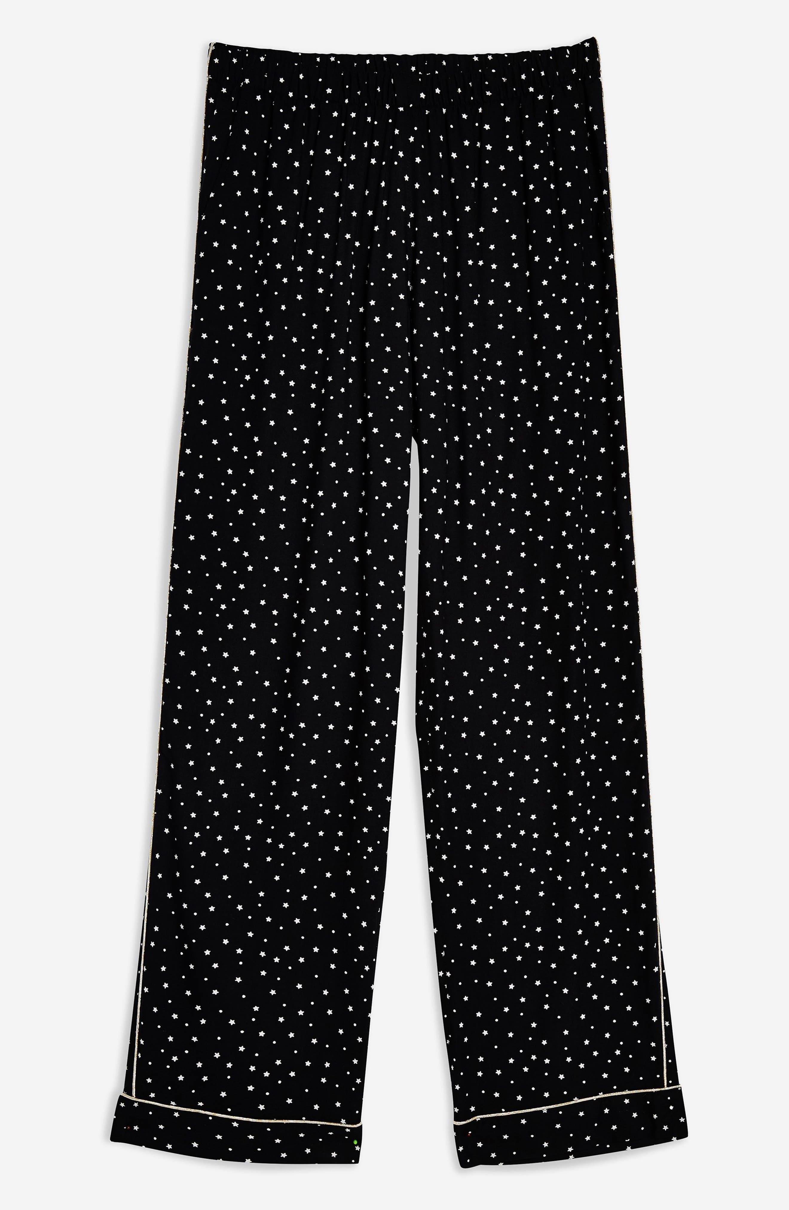 ,                             Star Print Pajama Pants,                             Alternate thumbnail 3, color,                             001