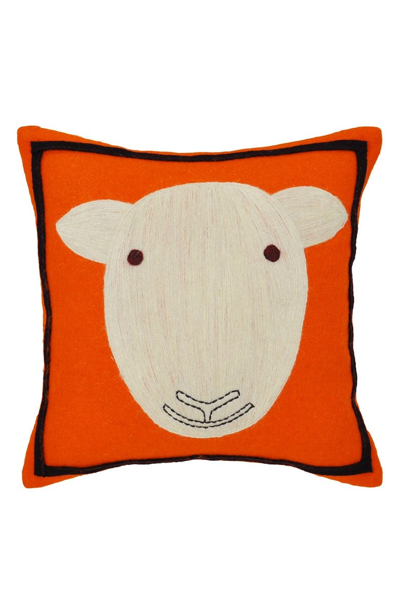 AMITY HOME Sheep Decorative Pillow, Main, color, 800