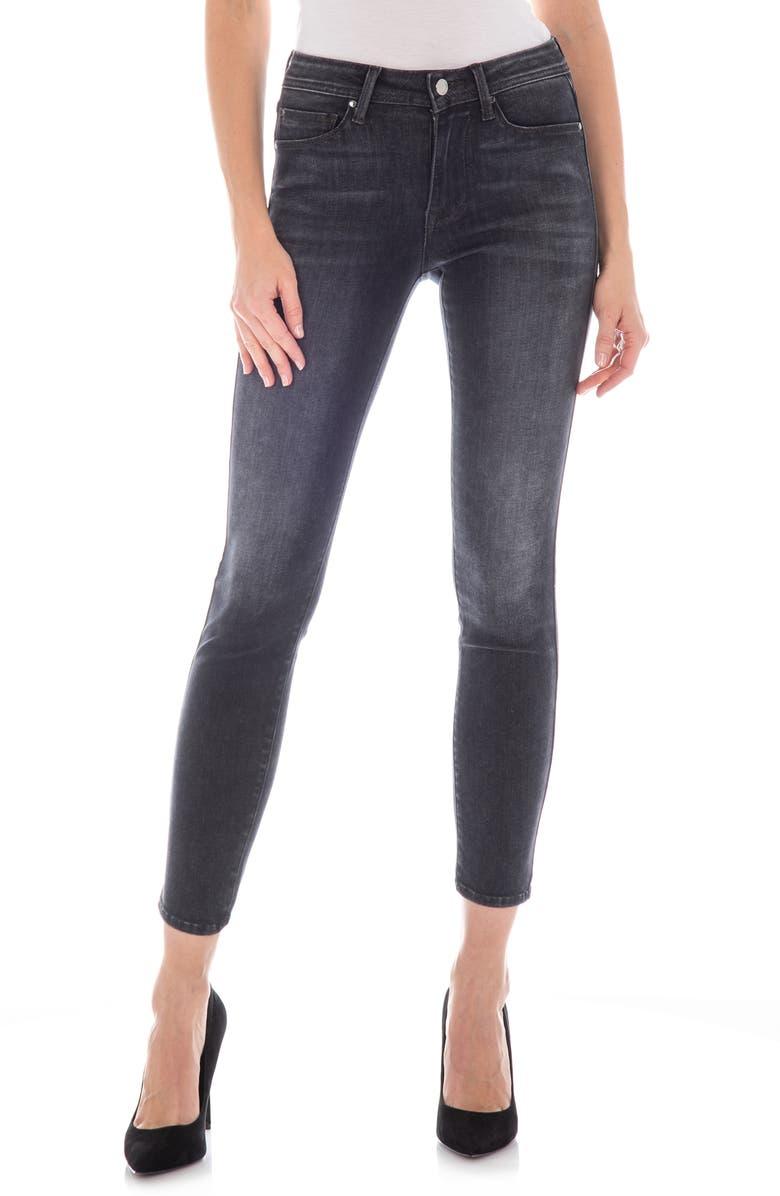 FIDELITY DENIM Sola High Waist Crop Skinny Jeans, Main, color, COBRA