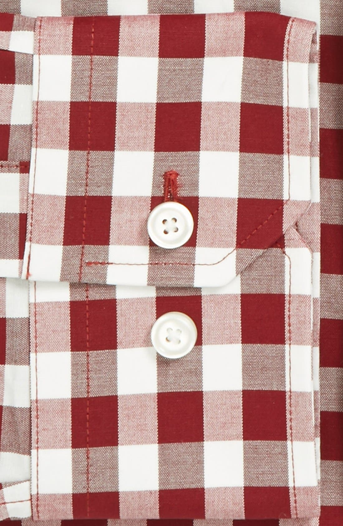 ,                             Slim Fit Non Iron Gingham Dress Shirt,                             Alternate thumbnail 24, color,                             641