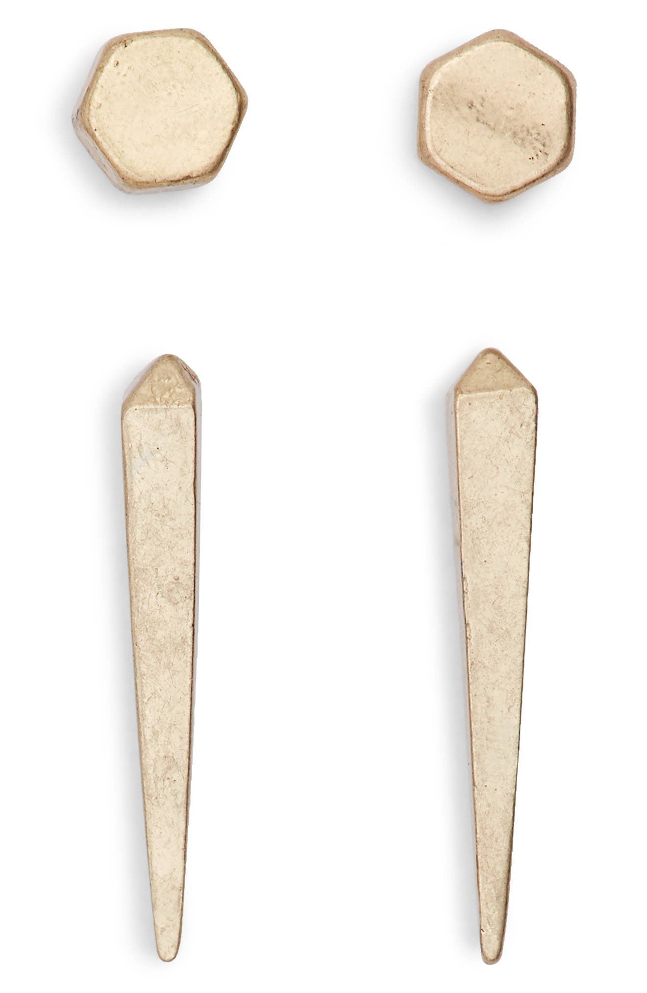 Image of ALLSAINTS 2-Pack Geometric Stud Earrings