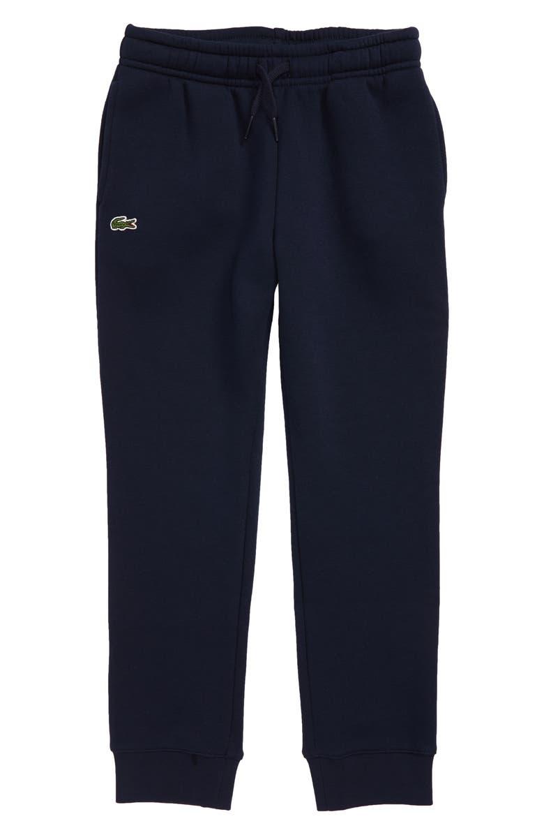LACOSTE Solid Fleece Jogger Sweatpants, Main, color, NAVY BLUE