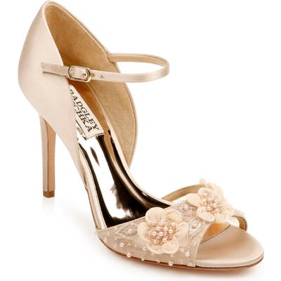 Badgley Mischka Carter Beaded Pump- Beige