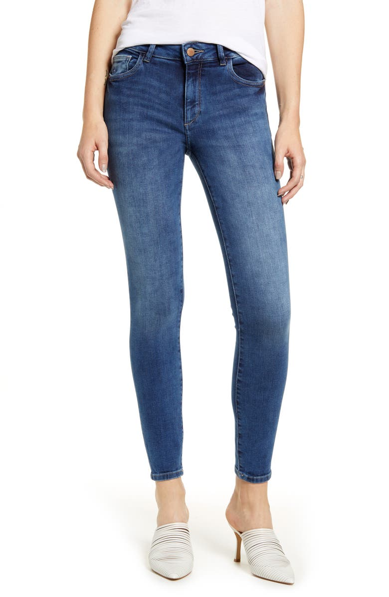DL1961 Florence Instasculpt Ankle Skinny Jeans, Main, color, 400