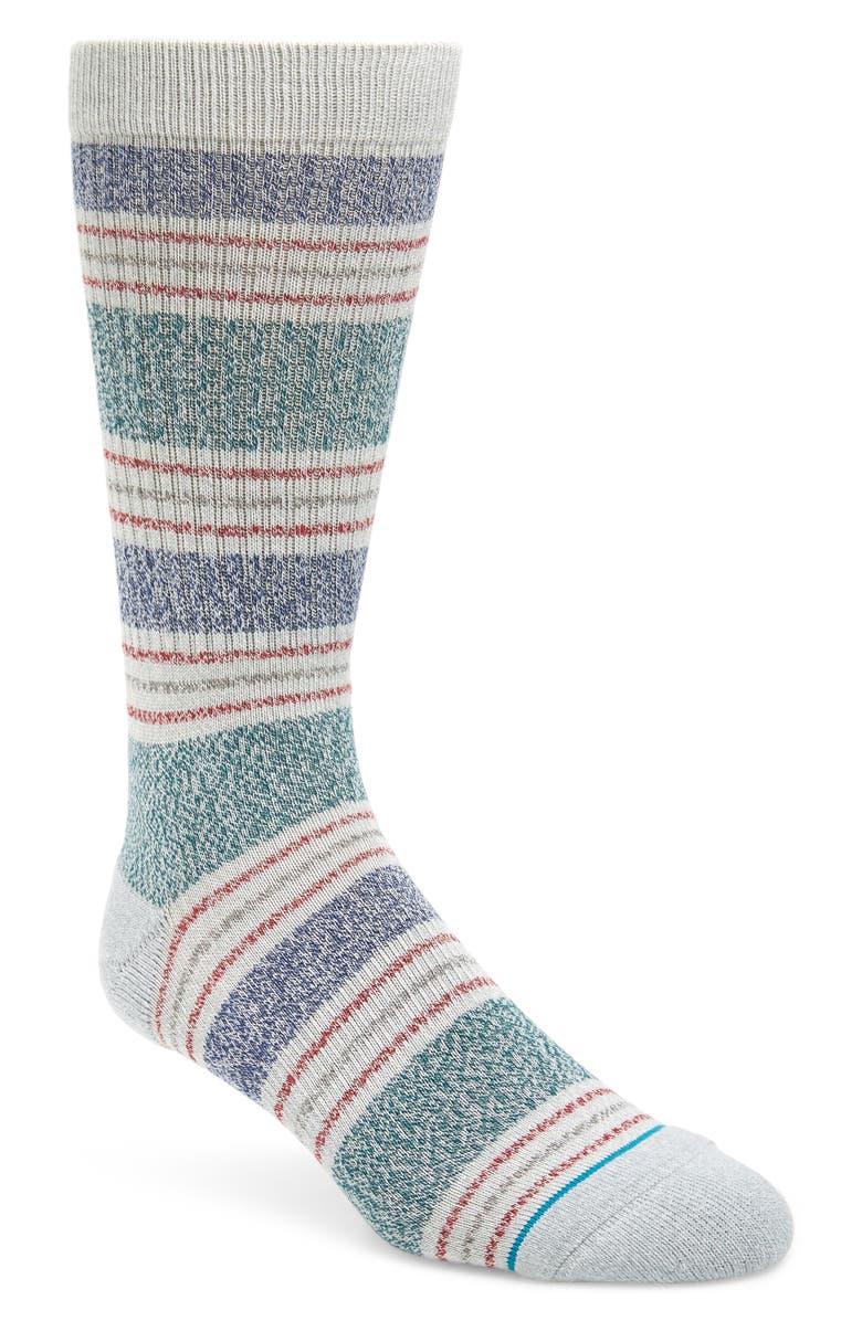 STANCE Leslee Stripe Socks, Main, color, GREY