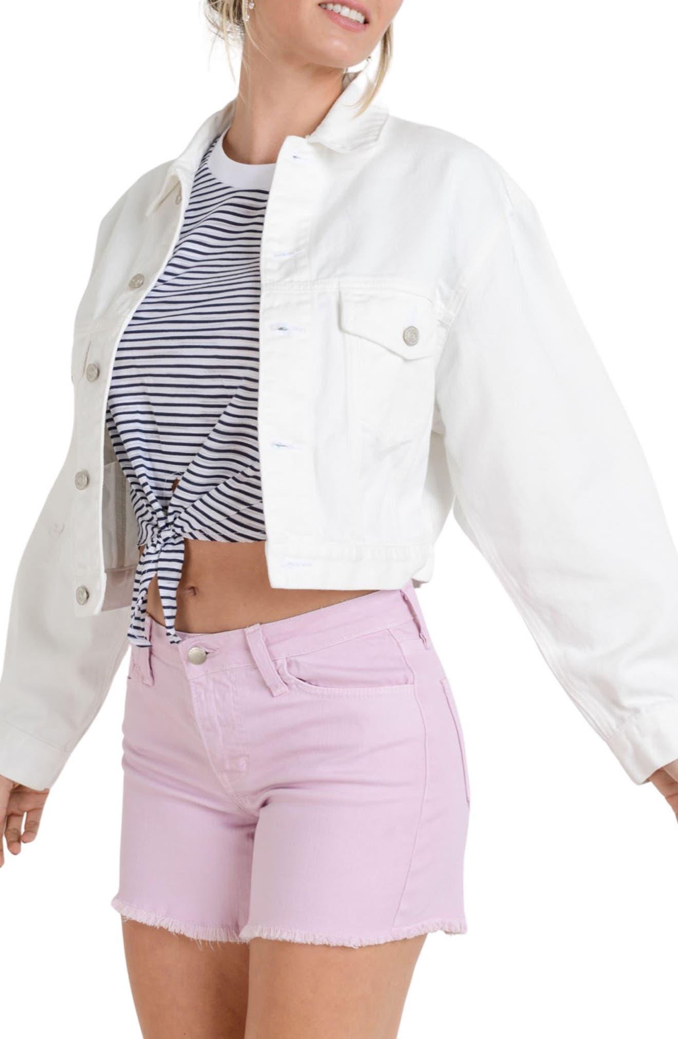 Oversize Crop Denim Jacket