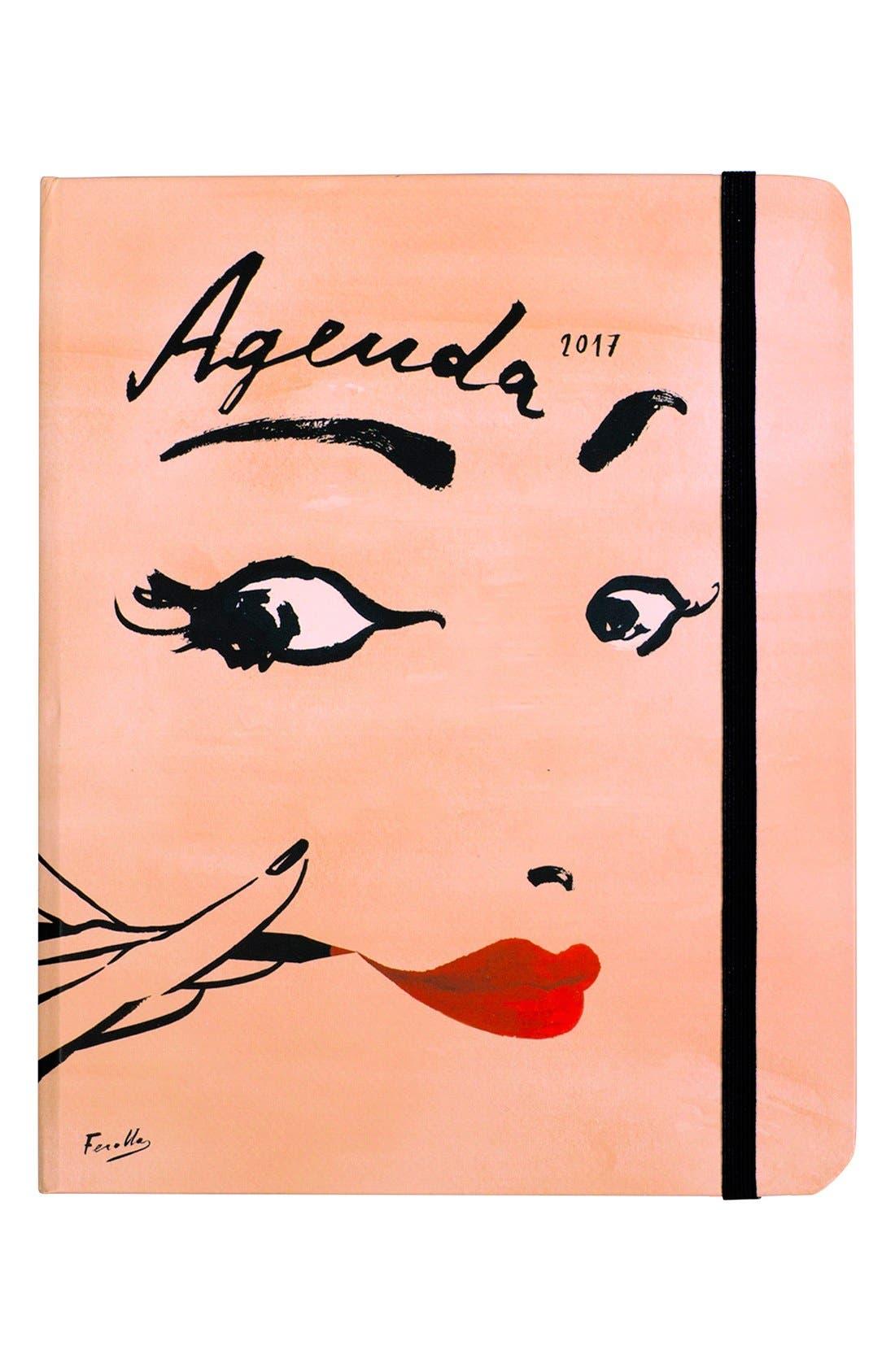 'read my lips - medium' 17-month 2017 agenda, Main, color, 950