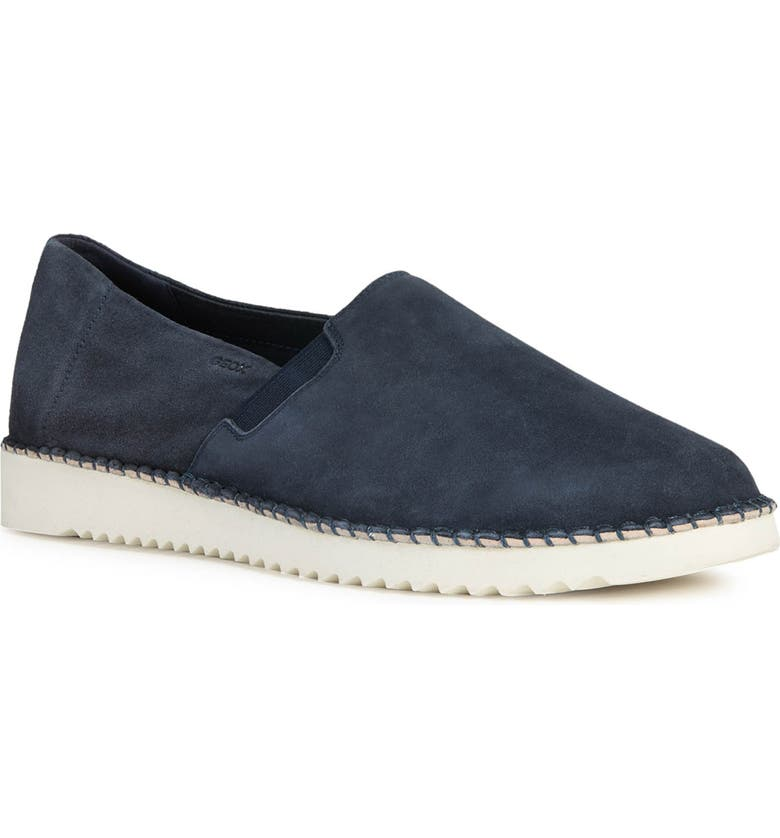 GEOX Dayan 2 Slip-On Sneaker, Main, color, NAVY LEATHER