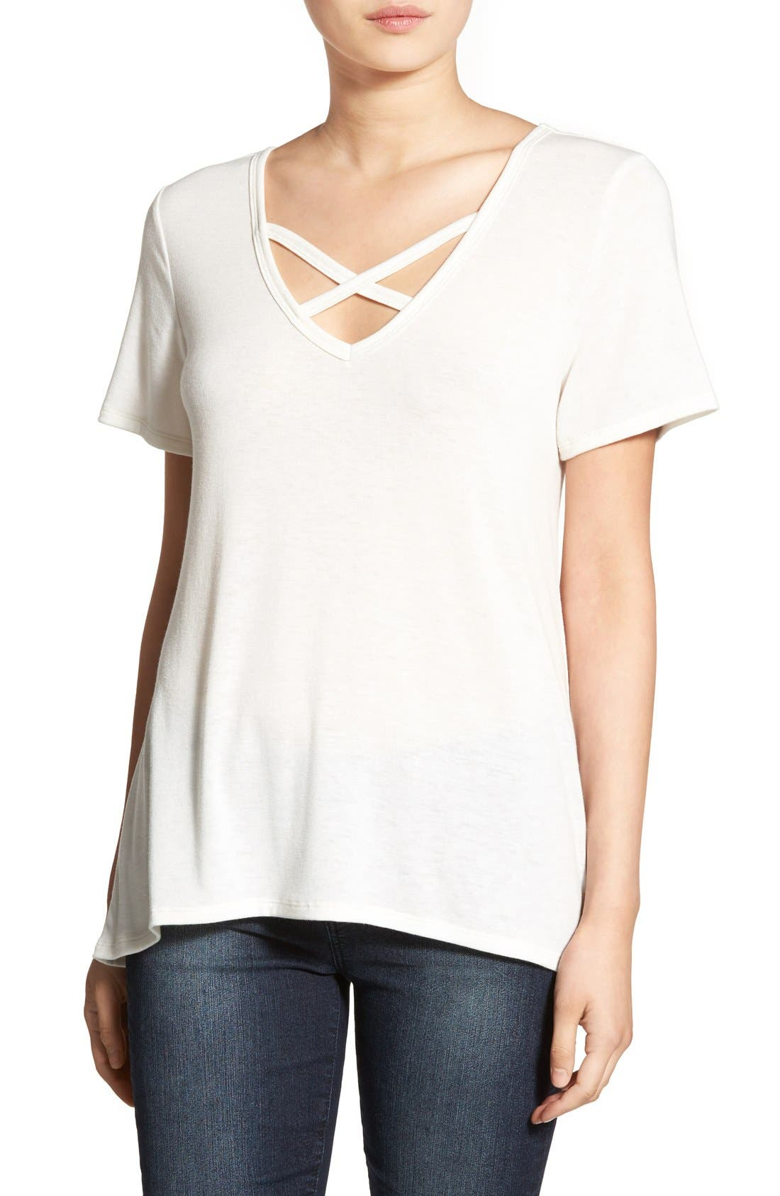 ,                             Cross Front Tee,                             Main thumbnail 27, color,                             900