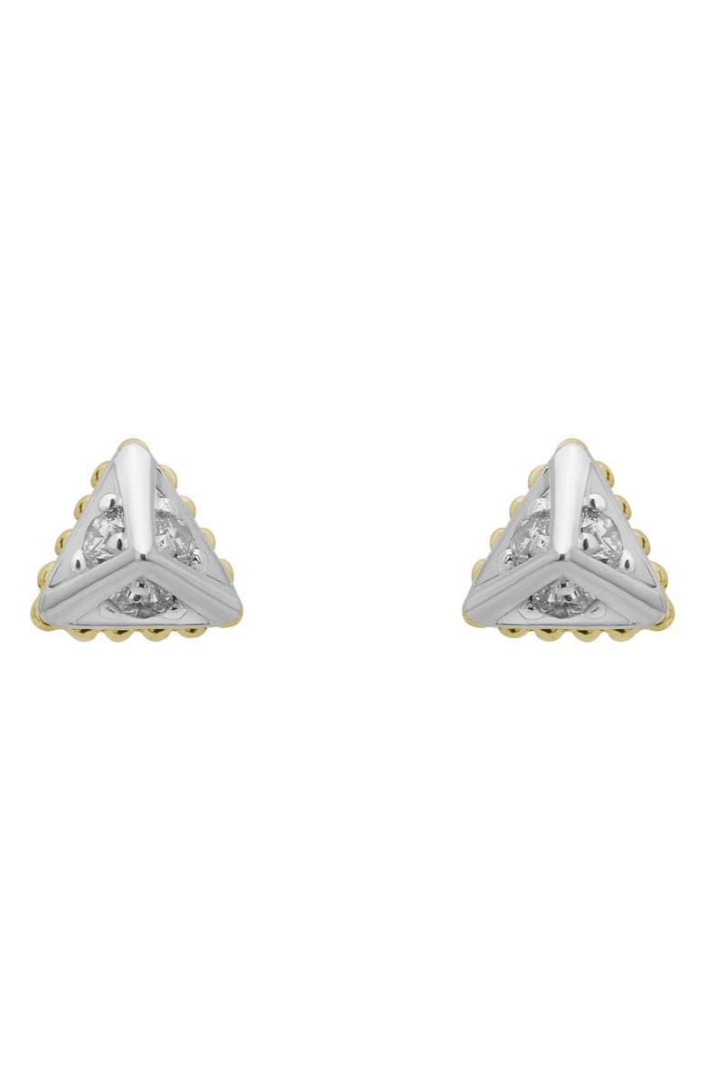 LAGOS KSL Diamond Stud Earrings, Main, color, SILVER