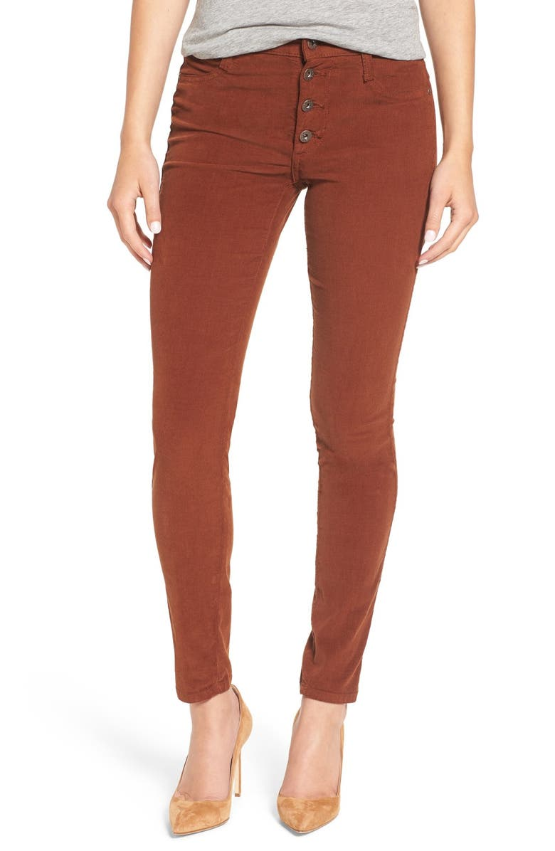 JAMES JEANS 'High Class' Corduroy High Rise Skinny Pants, Main, color, 210
