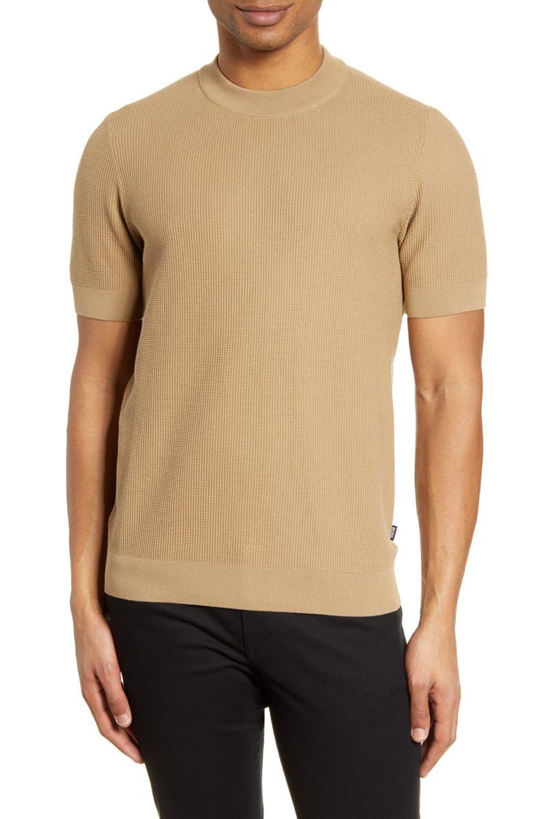 BOSS Omatteo Waffle Stitch T-Shirt, Main, color, 275