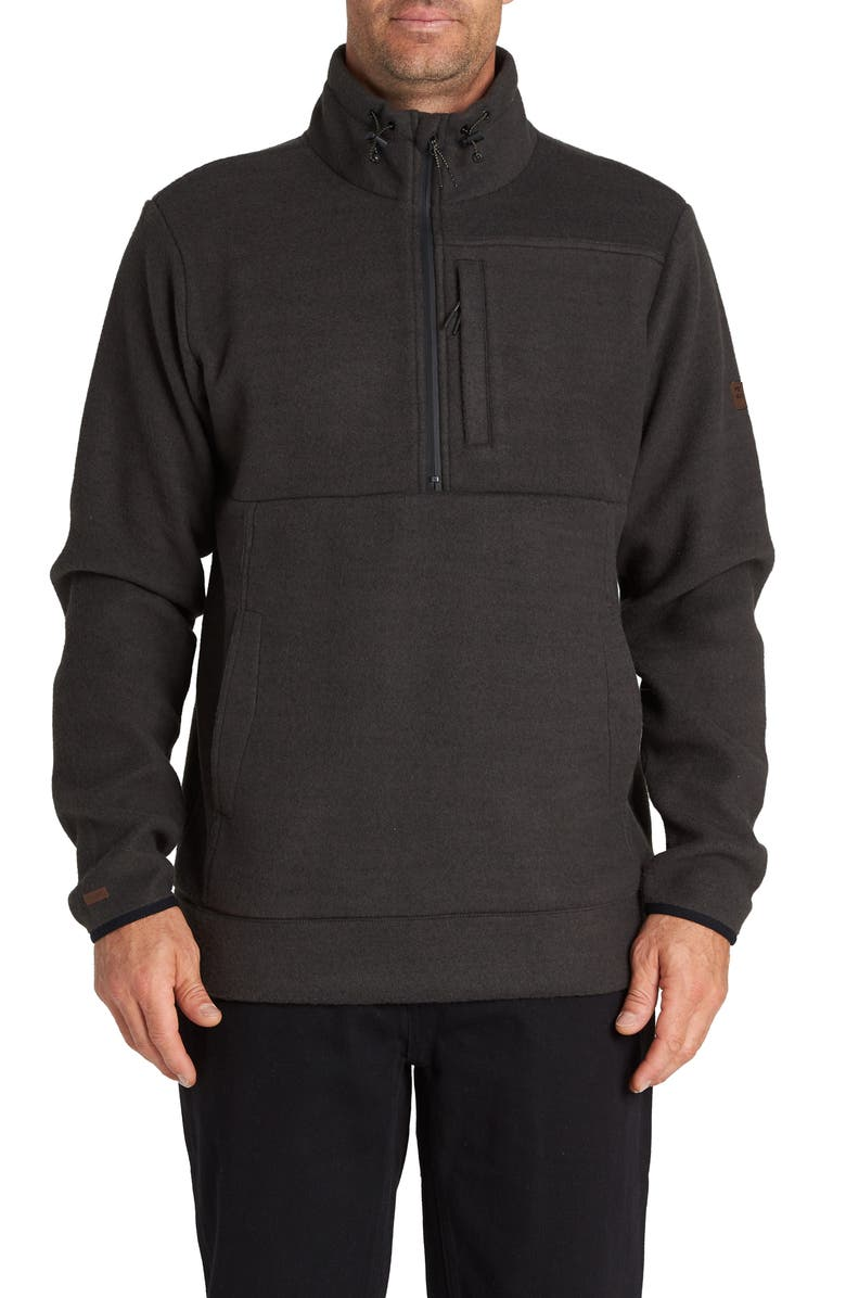 BILLABONG Boundary Mock Half Zip Pullover, Main, color, BLACK