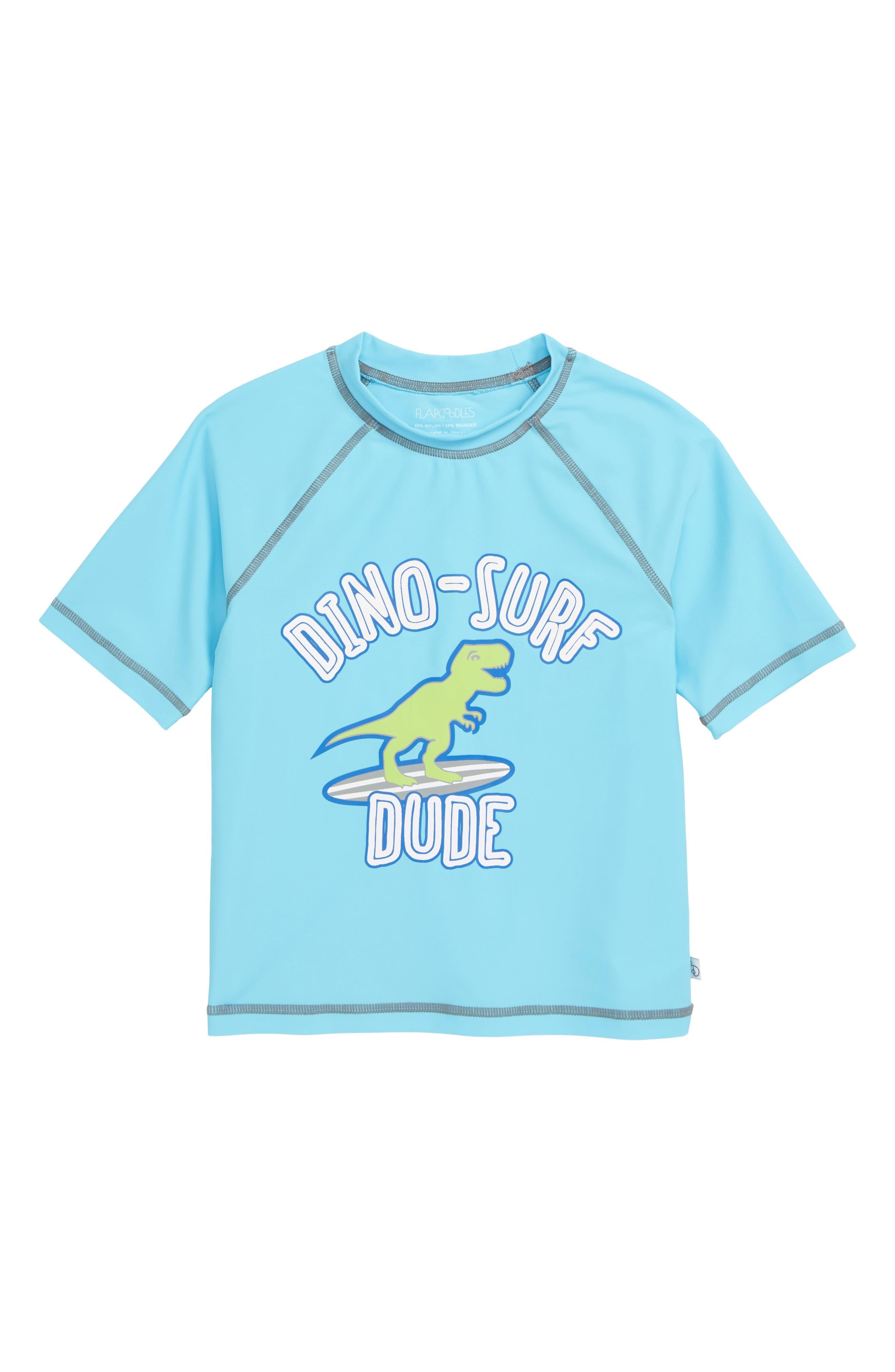 Image of Flapdoodles Dino Surf Rashguard Top