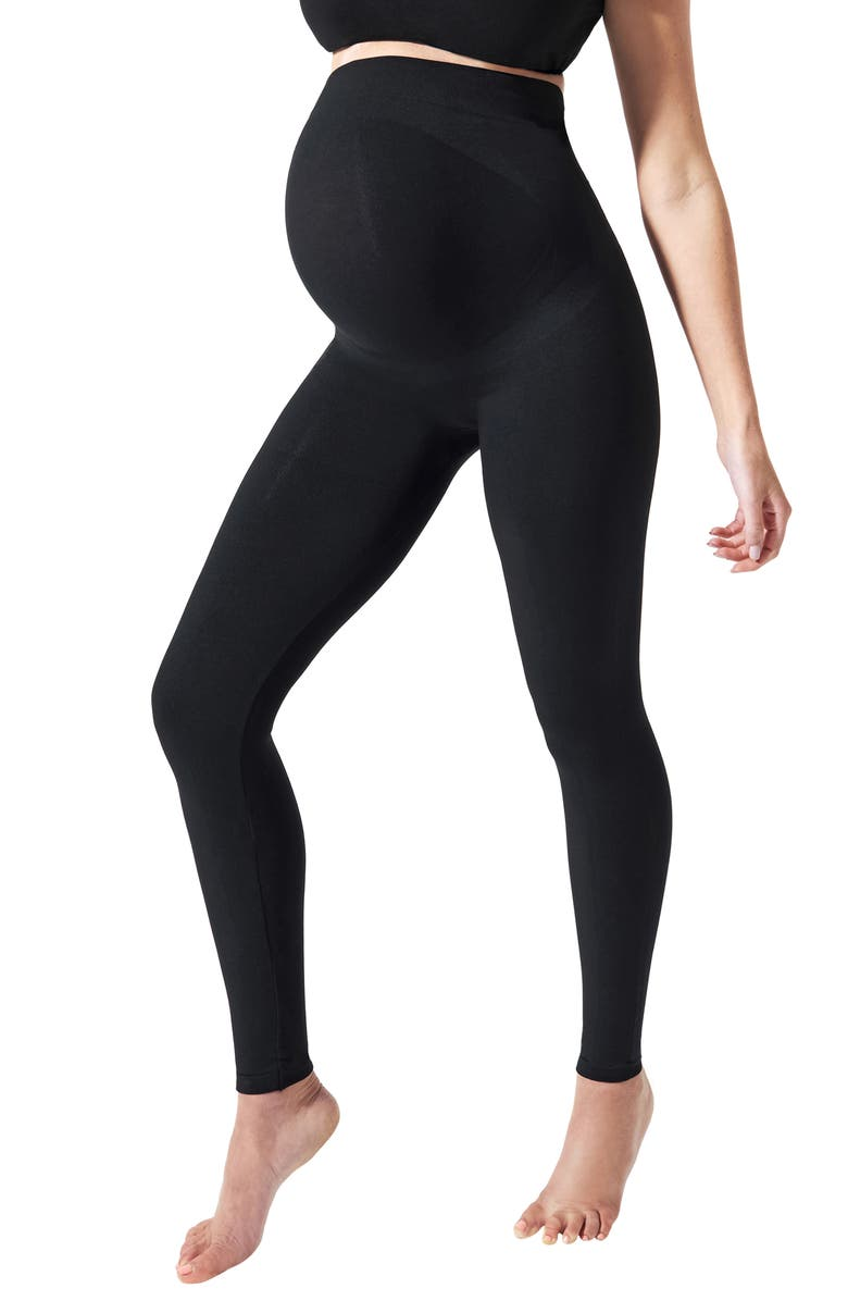 BLANQI Everyday Maternity Belly Support Leggings, Main, color, BLACK