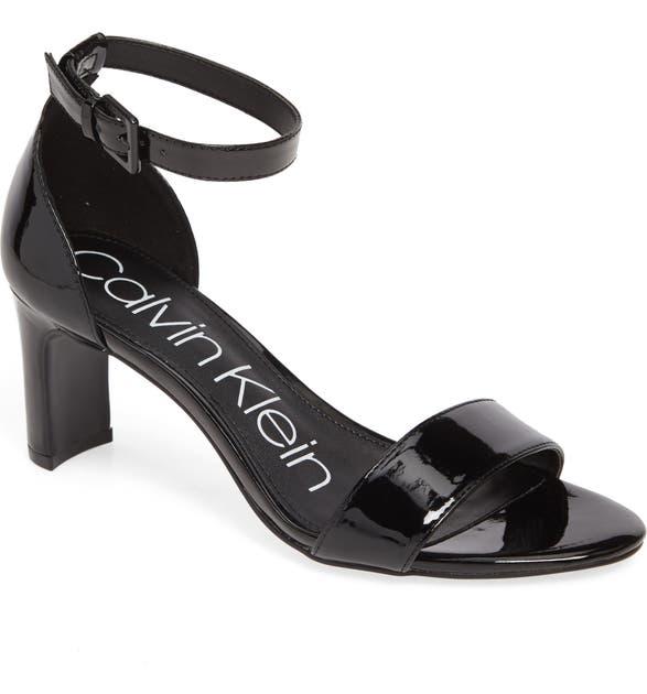 Calvin Klein Sandals CARRIE ANKLE STRAP SANDAL