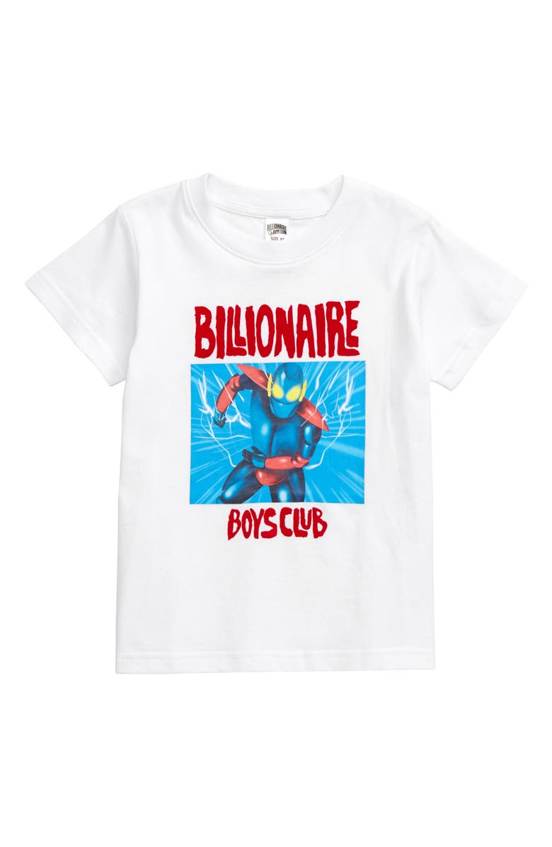 BILLIONAIRE BOYS CLUB Defender Graphic T-Shirt, Main, color, WHITE