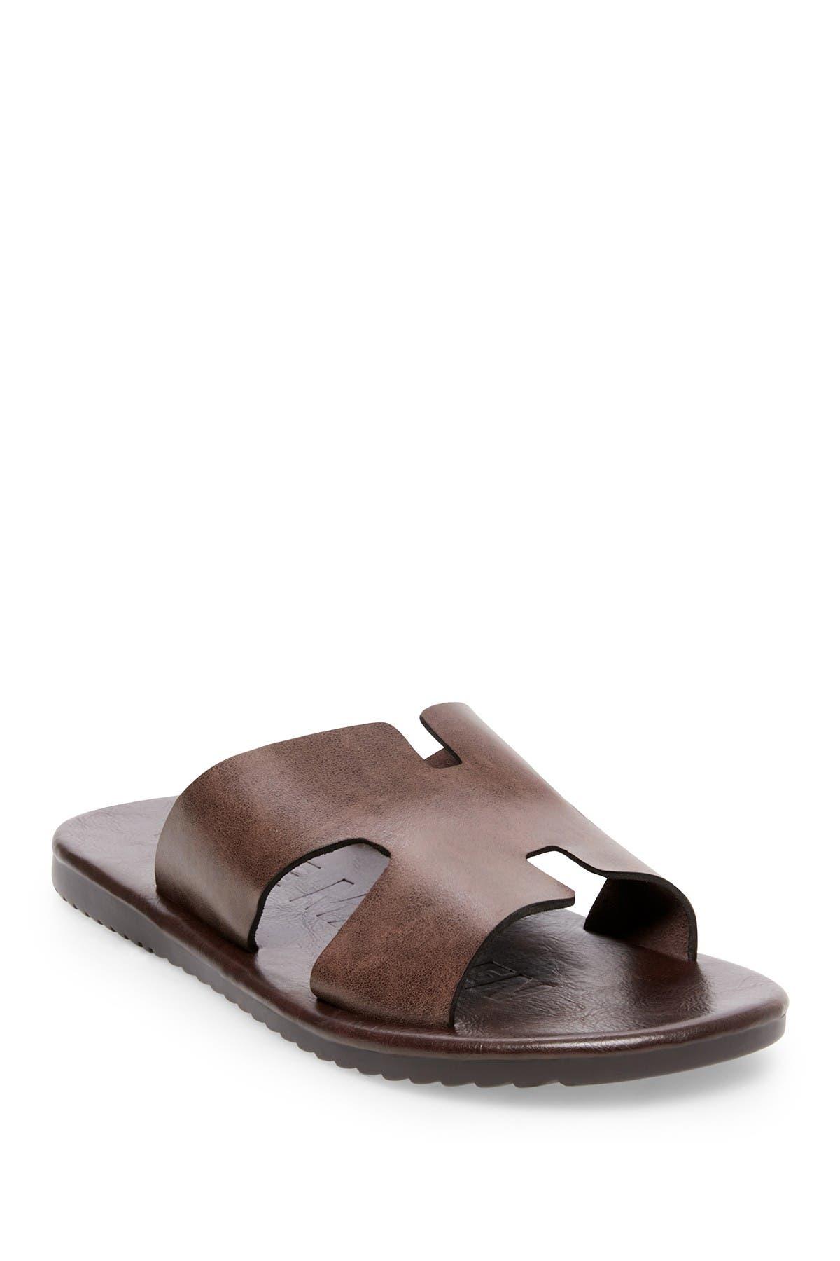 Image of Steve Madden Matter Leather Slide Sandal