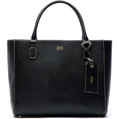 Frances Valentine Olivia Boarskin Leather Tote - Black