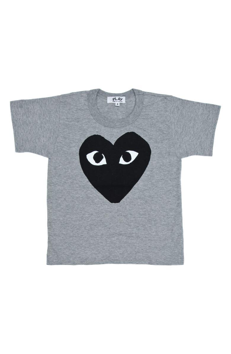 COMME DES GARÇONS PLAY Comme de Garçons PLAY Black Heart Graphic T-Shirt, Main, color, GREY