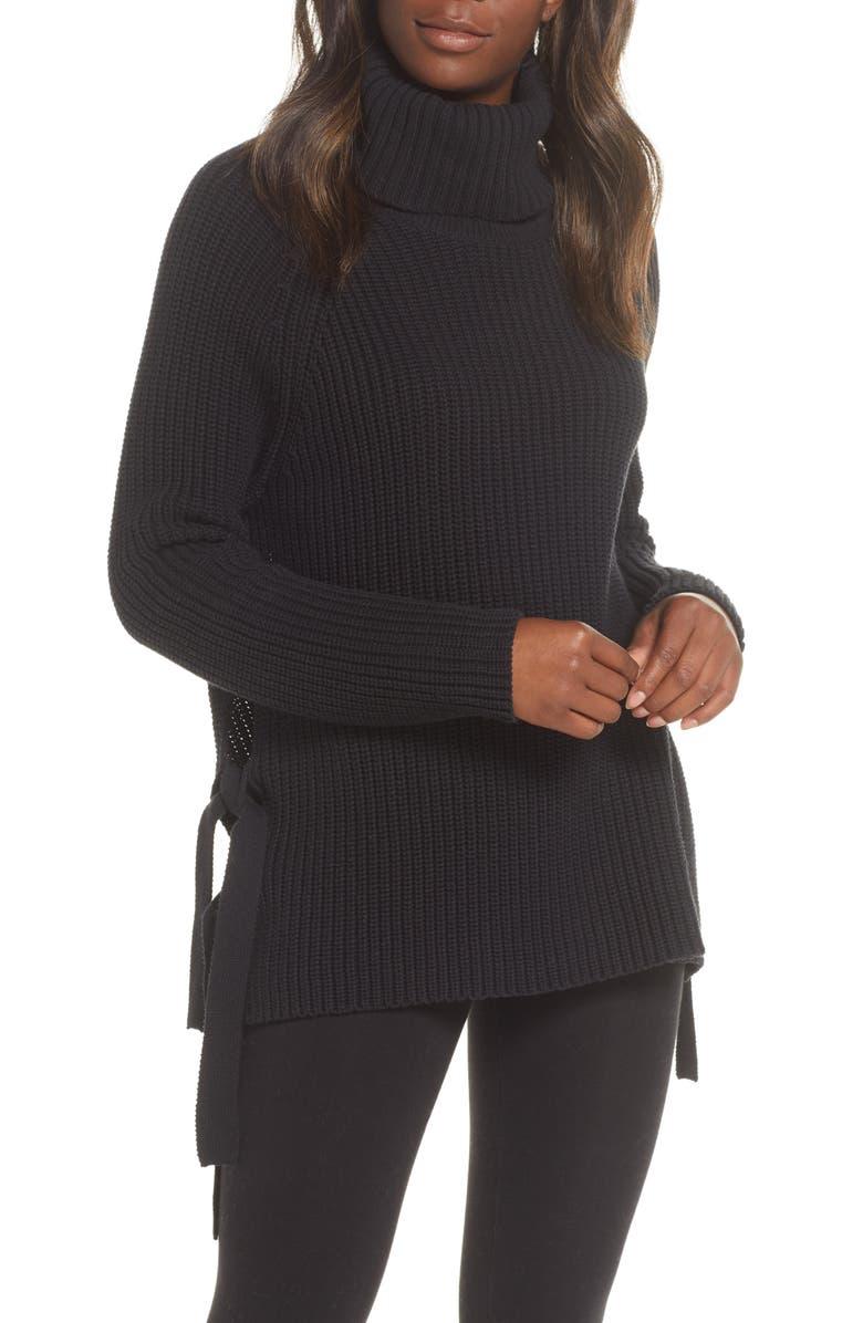 UGG<SUP>®</SUP> Ceanne Turtleneck Sweater, Main, color, BLACK