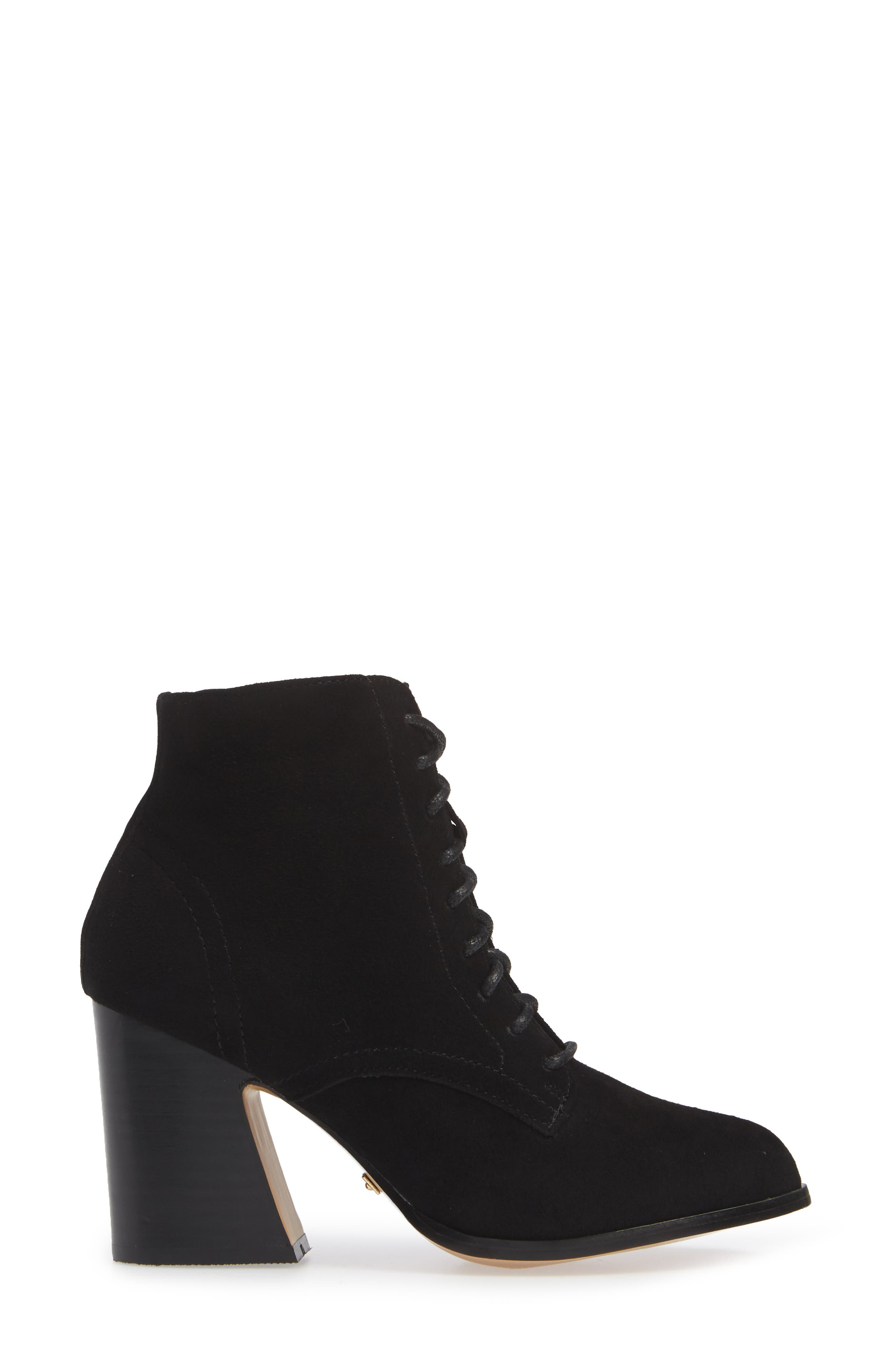 ,                             Smith Lace-Up Bootie,                             Alternate thumbnail 3, color,                             BLACK SUEDE
