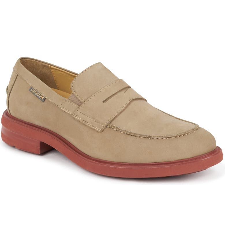 MEPHISTO Orelien Penny Loafer, Main, color, SAND NUBUCK