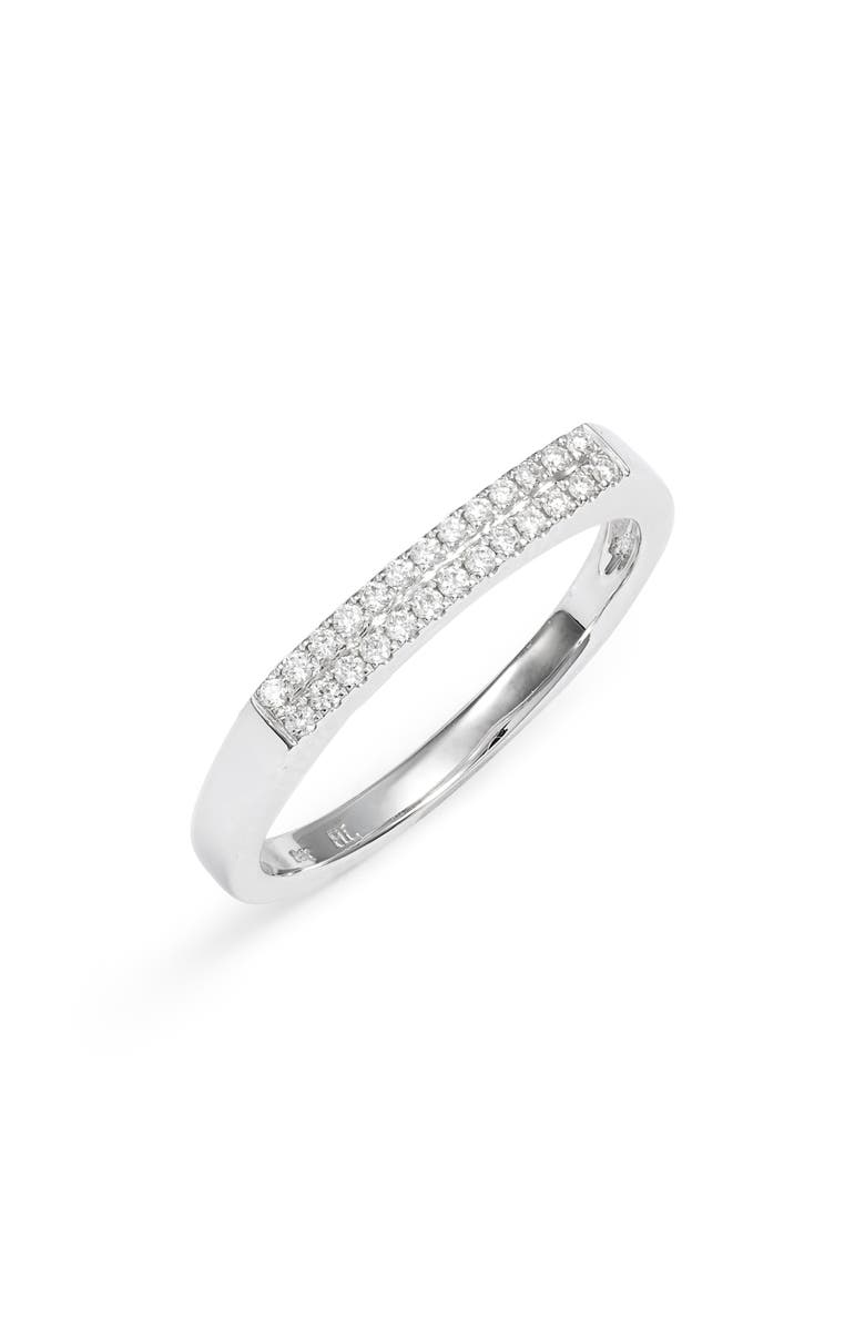 BONY LEVY Diamond Bar 18k Gold Ring, Main, color, WHITE GOLD/ DIAMOND